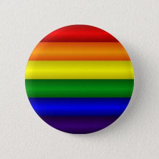 虹の旗ボタン 5.7CM 丸型バッジ