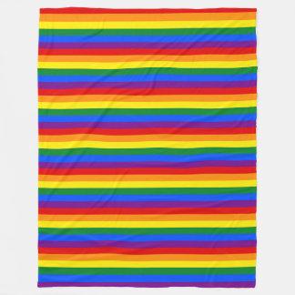 虹の旗色 + あなたのアイディア フリースブランケット