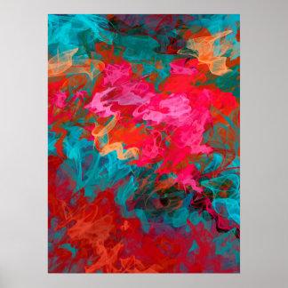 虹の明るく多彩な勾配パターン ポスター