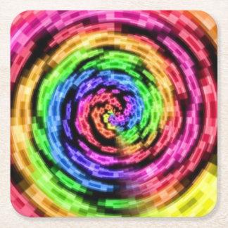 虹の星の渦のコースター スクエアペーパーコースター