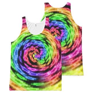 虹の星の渦のタンクトップ オールオーバープリントタンクトップ