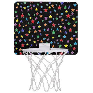 虹の星明かりの星明かりの夜小型バスケットボールたが ミニバスケットボールネット
