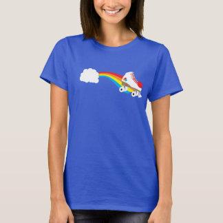 虹の時代遅れのローラースケート Tシャツ
