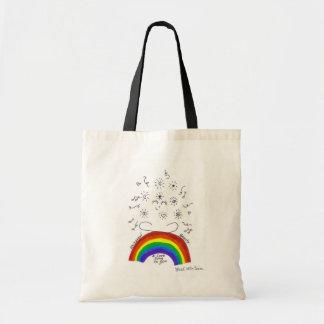 虹の普遍的な歌のトートバック トートバッグ
