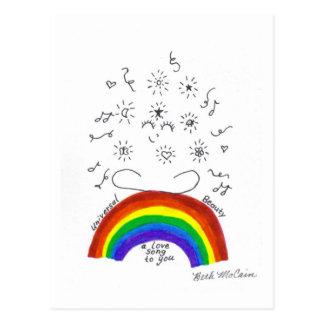 虹の普遍的な歌の郵便はがき ポストカード