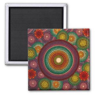 虹の曼荼羅の磁石 マグネット