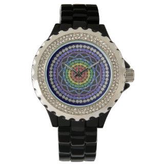 虹の曼荼羅の腕時計 腕時計