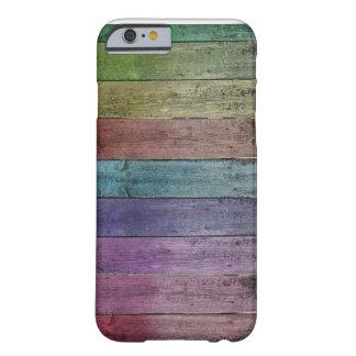 虹の木製のiPhone 6/6s、やっとそこに電話箱 Barely There iPhone 6 ケース