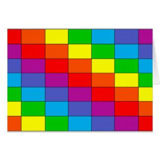 虹の格子挨拶状 カード