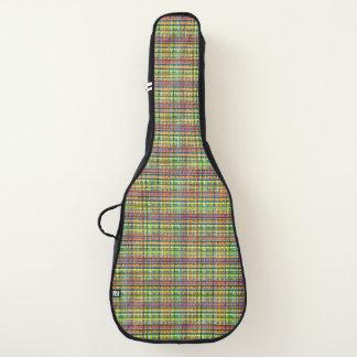 虹の格子縞のギターの箱 ギターケース