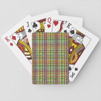虹の格子縞カード トランプ