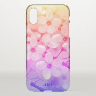 虹の桜のモノグラム iPhone X ケース