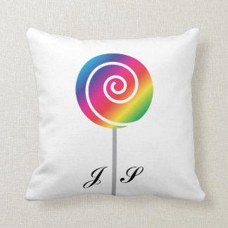 虹の棒つきキャンデーの吸盤の渦巻キャンデー クッション