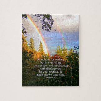 虹の森林キリスト教の聖なる書物、経典の聖書の詩 ジグソーパズル