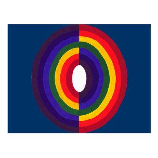 虹の楕円形の反対の ポストカード