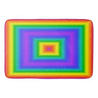 虹の正方形 バスマット