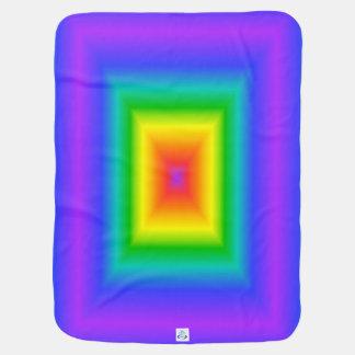虹の正方形 ベビー ブランケット