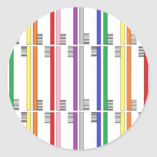 虹の歯ブラシのステッカー ラウンドシール