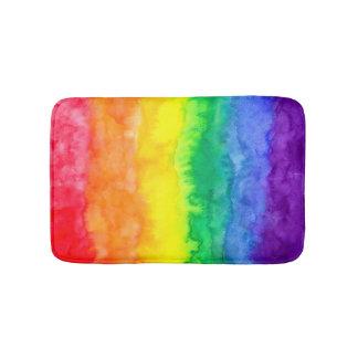 虹の水彩画の水洗液のマット バスマット