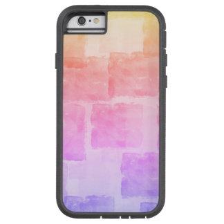 虹の水彩画の芸術のグラデーションなパステル TOUGH XTREME iPhone 6 ケース