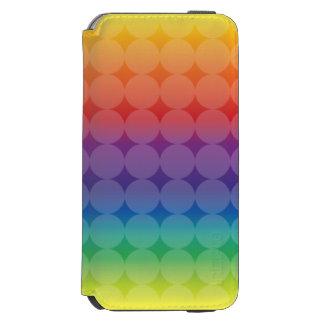 虹の水玉模様 iPhone 6/6Sウォレットケース