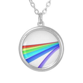 虹の波 シルバープレートネックレス