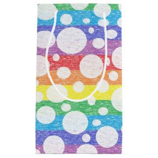 虹の海のギフトバッグの泡 スモールペーパーバッグ