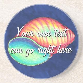 虹の海の貝のコースター コースター