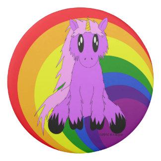 虹の消す物(ピンク)とのかわいくだらしないユニコーン 消しゴム