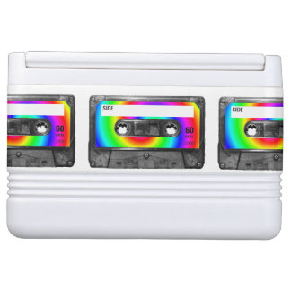 虹の渦巻のラベルカセット イグルークーラーボックス