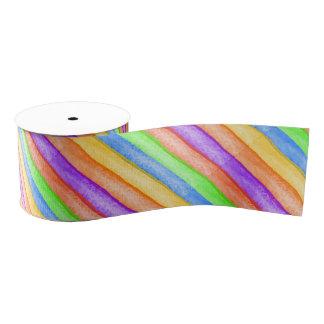 虹の渦巻のリボン グログランリボン