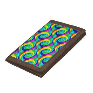 虹の渦巻の抽象美術のデザイン