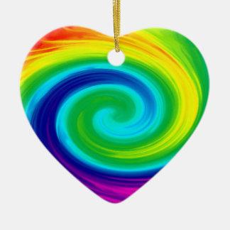 虹の渦巻の抽象美術のデザイン セラミックオーナメント