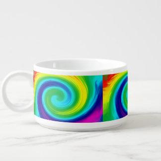 虹の渦巻の抽象美術のデザイン チリボウル
