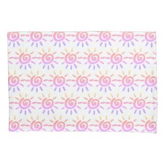 虹の渦巻の日曜日パステル調パターン枕箱 枕カバー