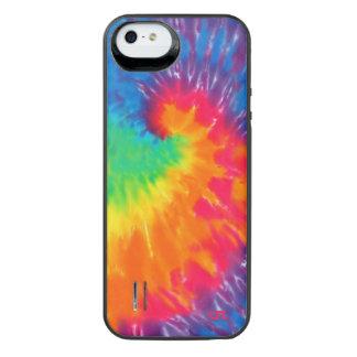 虹の渦巻の絞り染め iPhone SE/5/5sバッテリーケース