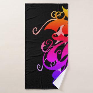虹の渦巻のBathタオル バスタオルセット
