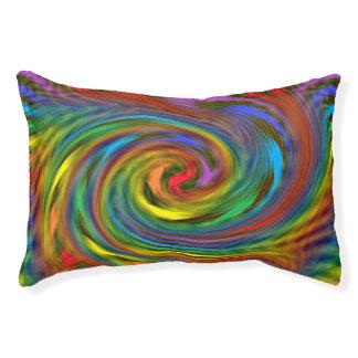 虹の渦巻犬のベッド