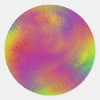 虹の渦巻 ラウンドシール