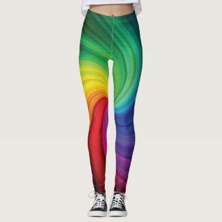 虹の渦巻 レギンス