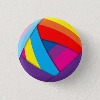 虹の渦巻 3.2CM 丸型バッジ