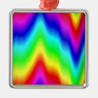 虹の溶解のサイケデリックなタイによって染められるパターン メタルオーナメント