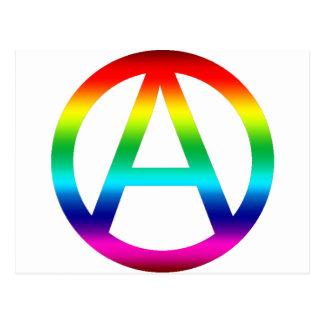 虹の無秩序の記号 ポストカード