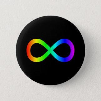 虹の無限記号 5.7CM 丸型バッジ
