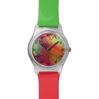 虹の熱帯抽象的なスタイル: May28thの腕時計 腕時計