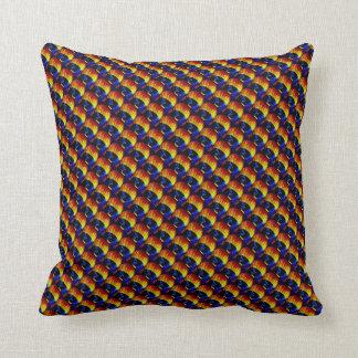 虹の熱気の気球のパターン(の模様が)あるな枕 クッション