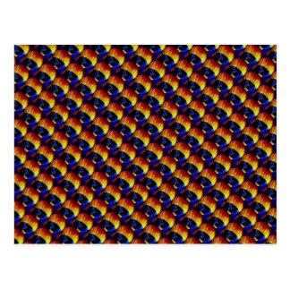 虹の熱気の気球 ポストカード