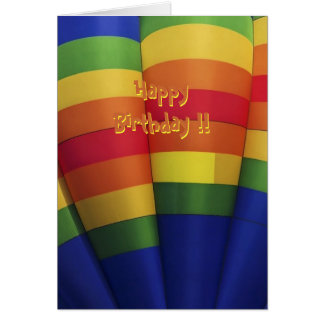 虹の熱気の風船のようにふくらむバースデー・カード カード