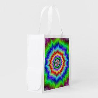 虹の爆発の買い物袋 エコバッグ