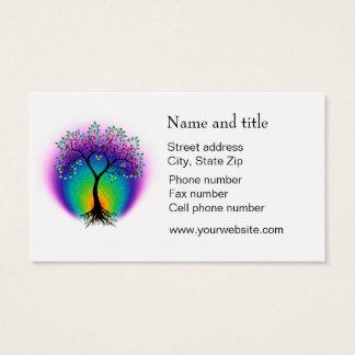 虹の生命の樹はあなたの顧客と接続します 名刺